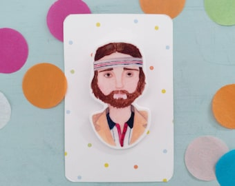Richie the Royal Tennenbaums Wes Anderson brooch