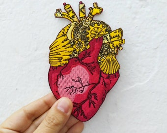 Anatomical heart Iron on patch