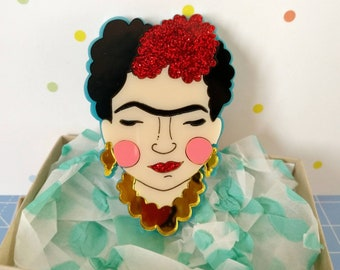 Perspex Frida brooch