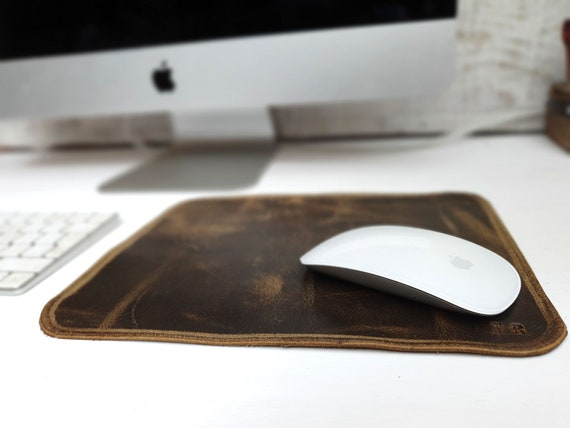 Leather mouse pad, Leather mouse mat, mousepad, free personalization, custom leather mat