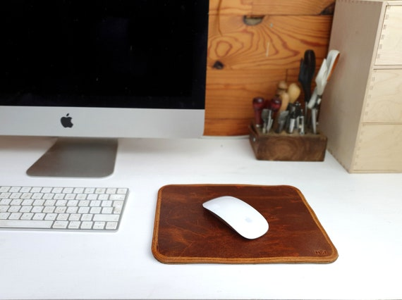 Leather mouse pad, Leather mouse mat, free personalization, custom leather mat