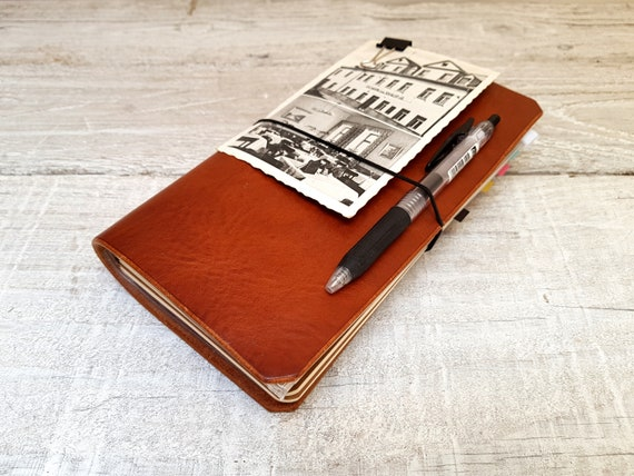 Leather travellers notebook cover, Midori cover, Fauxdori cover, Field notes notebook cover, Refillable journal, Free Personalisation,