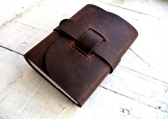 Leather Sketchbook, Leather Journal, A6, dark brown leather, travel journal, wrap around leather journal
