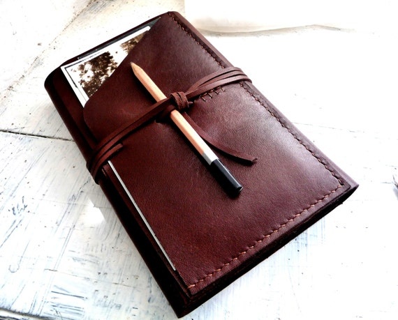 Large moleskine cover. Moleskine leather case. Travel journal cover. Notebook cover. Brown leather organizer