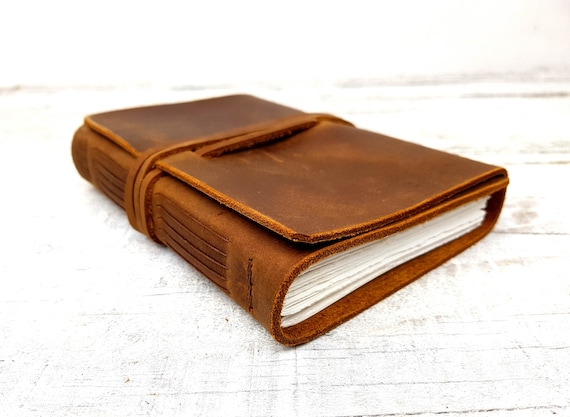 Leather Sketchbook. Leather Journal. Leather travel Journal, Handmade leather book. Notebook. Free personalisation