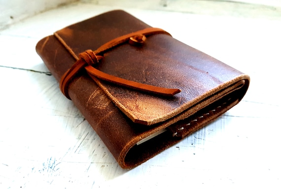Moleskine leather cover, leather Journal. Pocket moleskine cover, Refillable journal, Leather Book. Refillable Book cover. Personalisation
