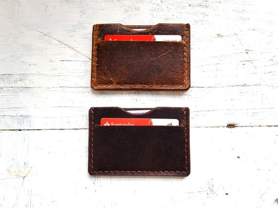Leather card wallet. Leather purse. Leather card holder. Small wallet