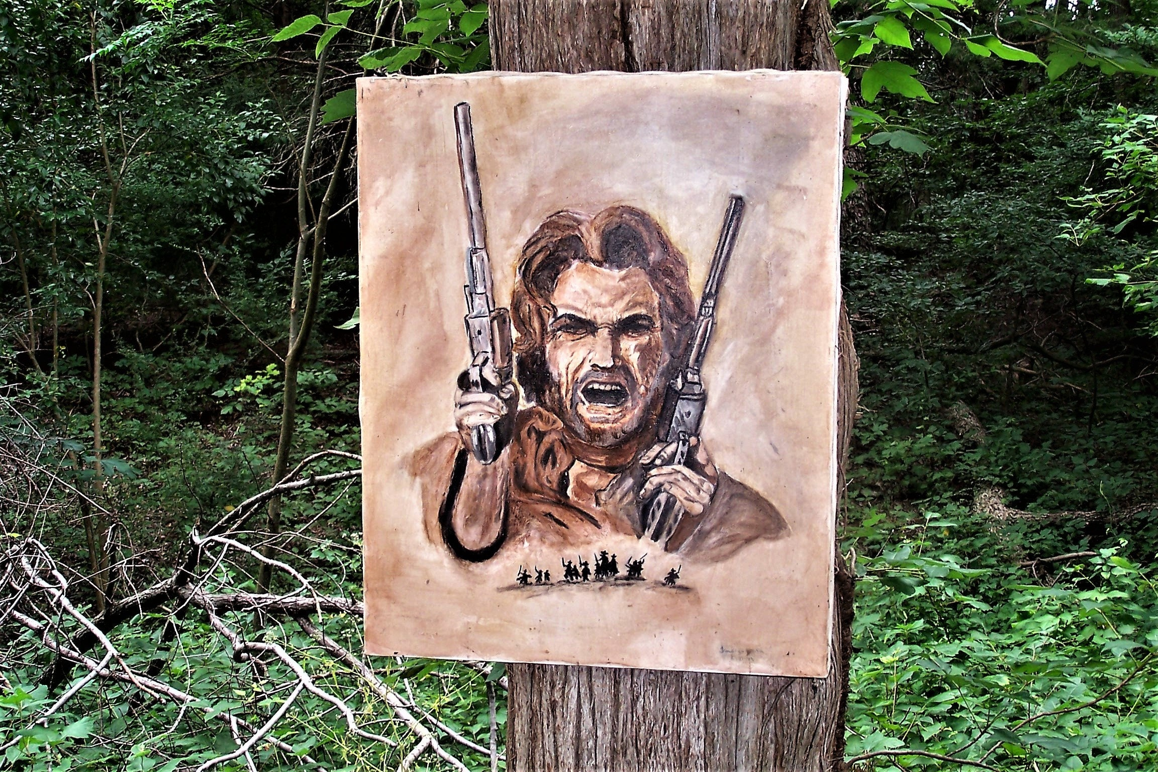 Clint Eastwood Josey Wales water color painting by Indigo Blu
