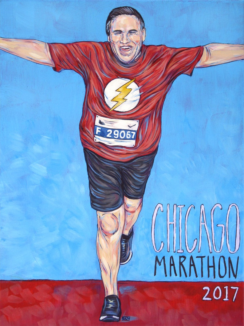 bb7708dde9f71 Running Portrait Painting on Canvas Painted from Your Runners