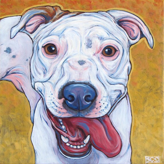 acrylic on canvas based on your photo 10 x 10 Custom painting of your pet 1 pet only.