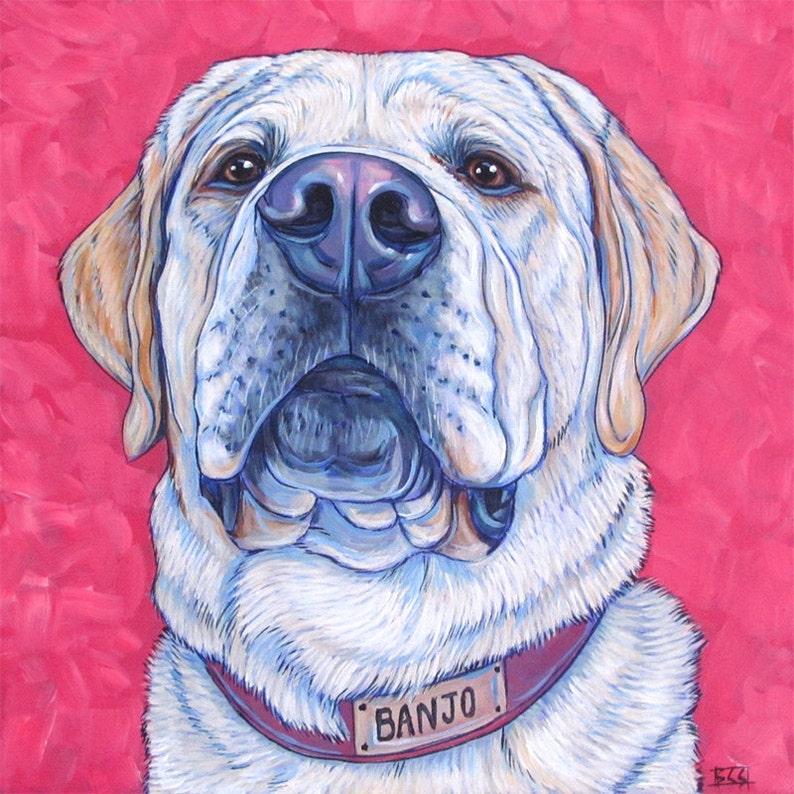 32dd04c4c9d3 Custom Pet Portrait Painting on Canvas 12 x 12 in | Etsy