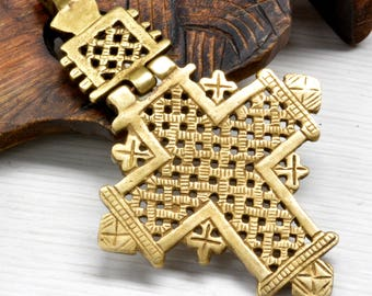 Ethiopian Cross, African cross, Ethnic Jewelry, unique pendant, jewelry supplies, Christmas,  Gift