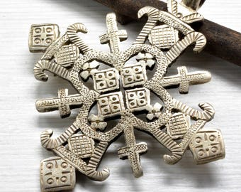 Religious Cross Ethiopian Jewelry Pendant made of silver, Accessories , Gift for him