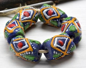 African glass beads,  glass beads , round beads, Ghana beads ,powder glass , korobo beads