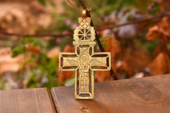 Copte Cross, pendentif éthiopien, croix chrétienne, bijoux religieux,  fournitures, bijoux en laiton, Croix éthiopienne b1a924a81261