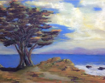 """Signed Print of """"Monterey Cypress at Pacific Grove"""""""