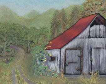 """Signed Print of """"Old barn at Monterra"""""""