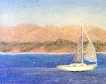 "Signed Print of ""Sailing Monterey Bay"""
