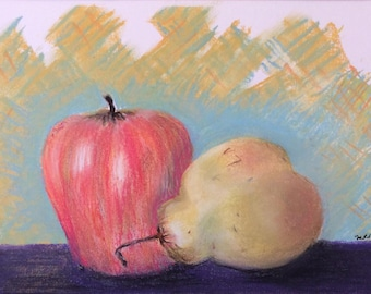 """Signed Print of """"Apple and Pear"""""""