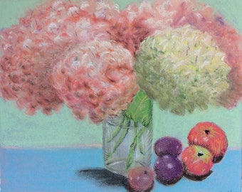 """Signed Print of """"Summer Hydrangea"""" by MaryLee Sunseri"""
