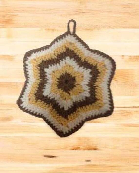 Crochet Potholder Pattern Hexagon Potholder Kitchen Etsy