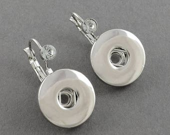 Snap Button Leverback Earring Making