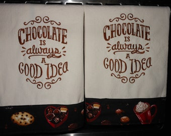 Chocolate Lovers Kitchen Towels Set