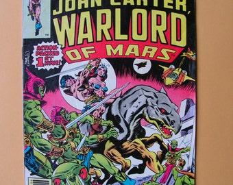 John Carter Warlord of Mars - Issues 1 - 10.  Marvel Comics  - 1970s