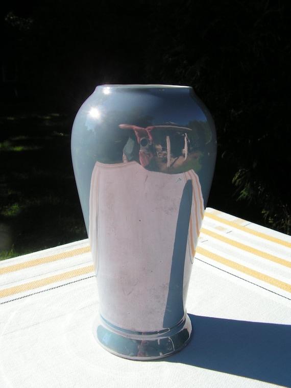 30s 40s German Lusterware Purple Lilac Vase Made In German Art Etsy