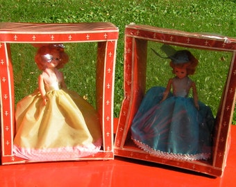 Two 1950s Dolls In Boxes Never Opened Fashion Gowns