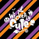 Wickedly Cute Halloween Monogram Addition for Dog Bandanas - Matte, Glitter + HOLO Options - Bandana NOT Included