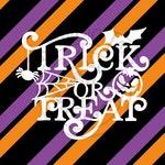Trick or Treat Halloween Monogram Addition for Dog Bandanas - Matte, Glitter + HOLO Options - Bandana NOT Included