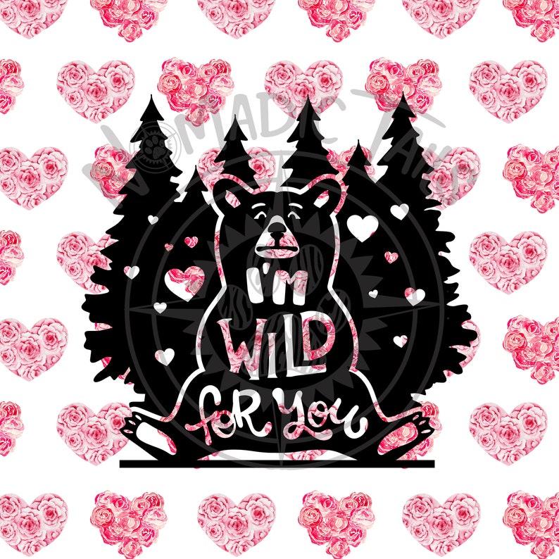 Wild For You Valentine Monogram Addition for Dog Bandanas  image 0
