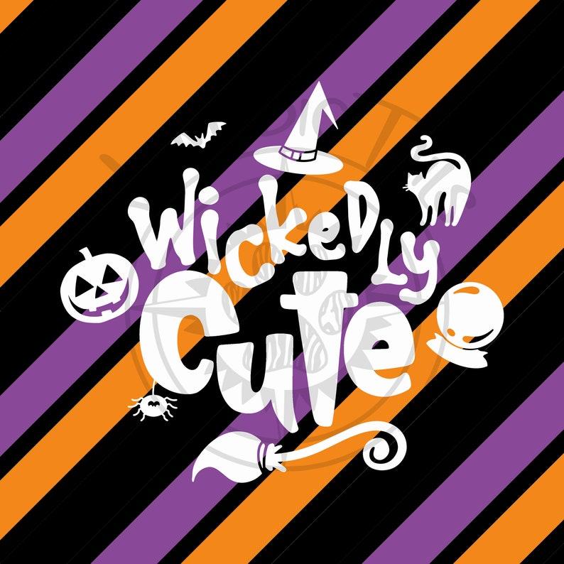 Wickedly Cute Halloween Monogram Addition for Dog Bandanas  image 0