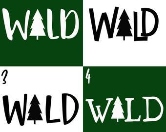 Wild - Shop Exclusive Monogram Addition for Dog Bandana - Matte, Glitter & HOLO Options