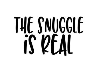 The Snuggle is Real Monogram Addition for Dog Bandana- Matte, Glitter & HOLO Options