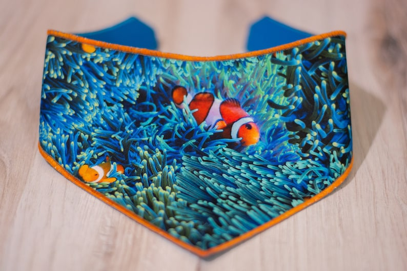 Reef  Ocean Dog Bandana  Canvas Backing  Adjustable 3 Snap image 0