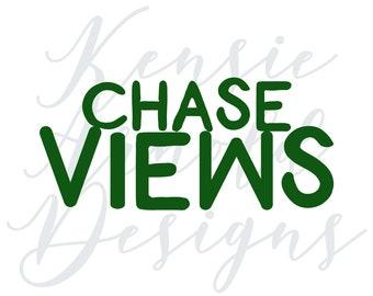 Chase Views Monogram Addition for Dog Bandana - Matte, Glitter & HOLO Options