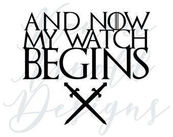And Now My Watch Begins Monogram Addition for Dog Bandana - Matte, Glitter & HOLO Options