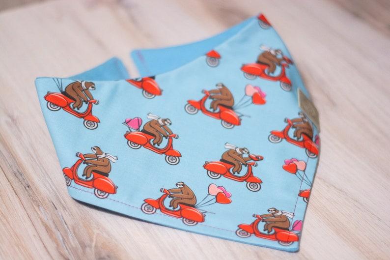 Love you a Sloth  Valentines Dog Bandana Adjustable 3 Snap image 0