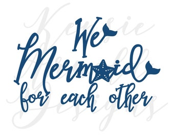 We Mermaid for Each Other Monogram Addition for Dog Bandana - Matte & HOLO Options