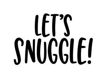 Let's Snuggle! Monogram Addition for Dog Bandana - Matte, Glitter & HOLO Options