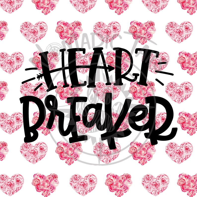 Heart Breaker  Valentine Monogram Addition for Dog Bandanas  image 0