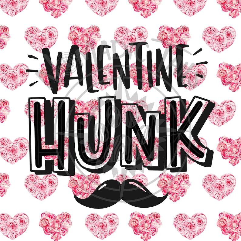 Valentine Hunk  Valentine Monogram Addition for Dog Bandanas image 0