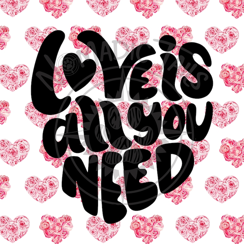 Love is All You Need  Valentine Monogram Addition for Dog image 0