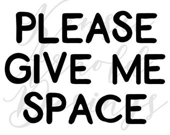 Please Give Me Space Monogram Addition for Dog Bandana- Matte, Glitter & HOLO Options