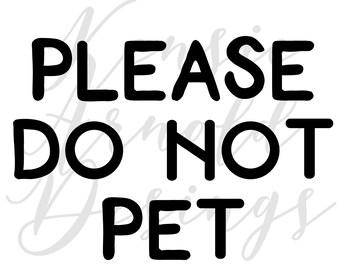 Please Do Not Pet Monogram Addition for Dog Bandana- Matte, Glitter & HOLO Options