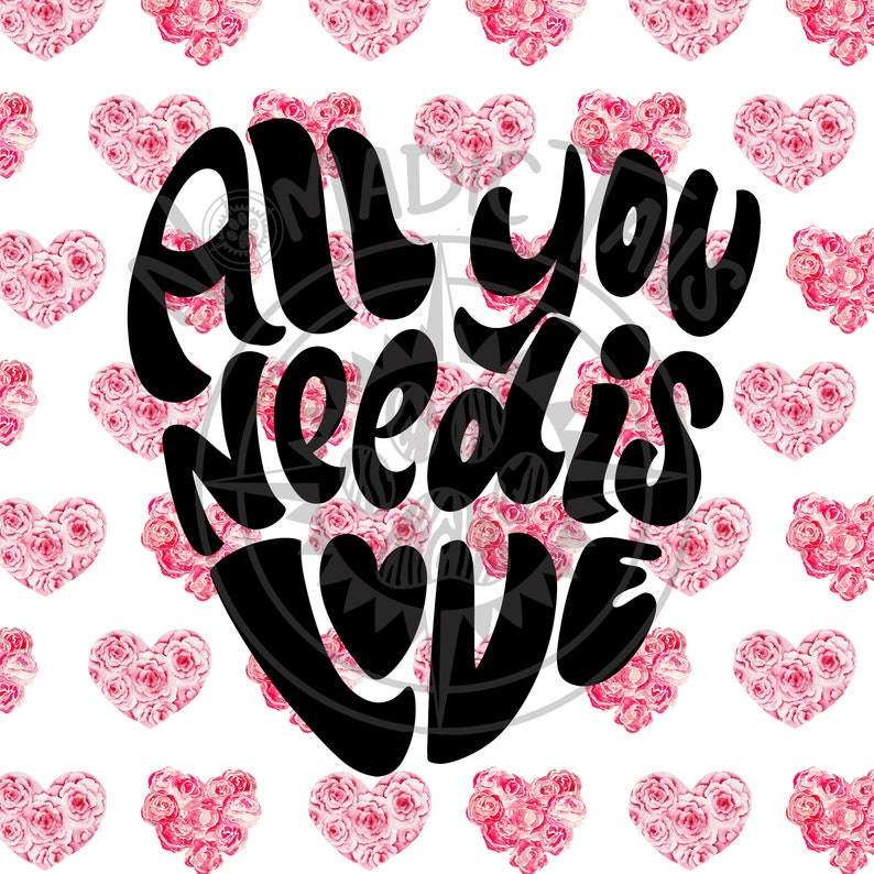 All You Need is Love  Valentine Monogram Addition for Dog image 0