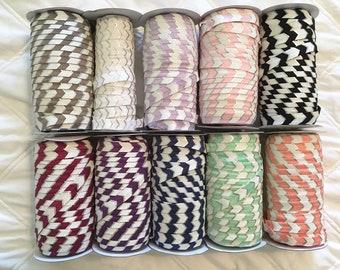 "10 yards silver foil chevron elastic by the yard, 5/8"" foe, elastic trim, arrow elastic, wholesale elastic, decorated elastic, print elastic"