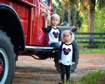 Disney Christmas shirt, Christmas Mickey Mouse Shirt, Christmas Minnie Mouse Shirt, Disney Shirt, 3 months-Adult 2XL, Disney raglan